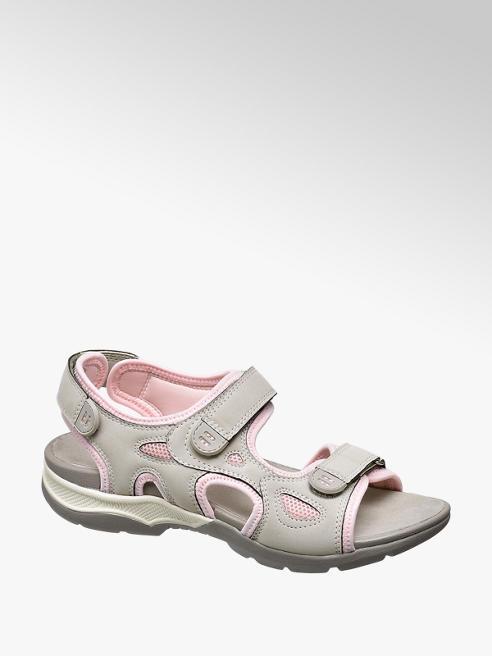 Easy Street Pink Velcro Walking Sandals
