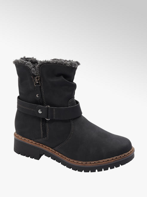 Easy Street Comfort Black Warm Lined Comfort Boots