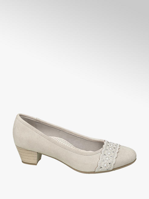 Easy Street Leder Komfort Pumps in Grau