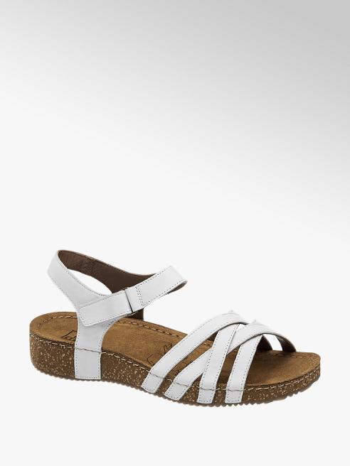 Easy Street Leder Sandalen in Weiß