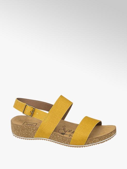 Easy Street Leinen Sandalen in Gelb