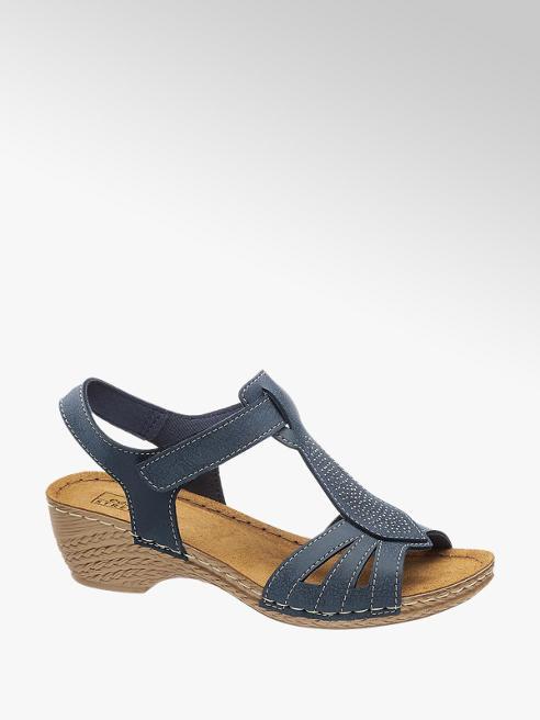 Easy Street Sandalen in Blau mit Strass-Verzierung