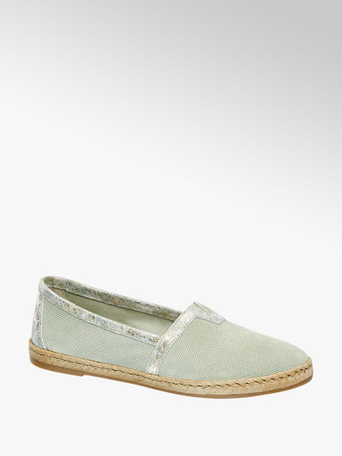 5th Avenue Espadrillas in pelle verde pastello