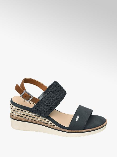Esprit Keil Sandaletten in Dunkelblau