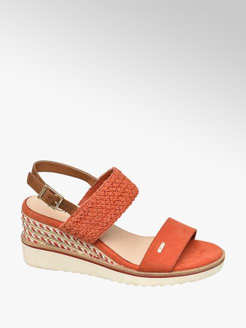 Esprit Keil Sandaletten in Orange