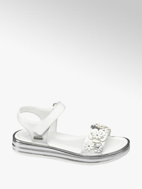Esprit Sandalen in Weiß mit Blumen-Details