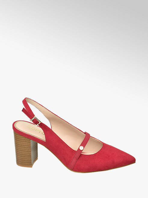 Esprit Sling Pumps in Rot