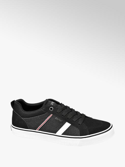 Esprit Sneaker in Schwarz mit Denim Elementen