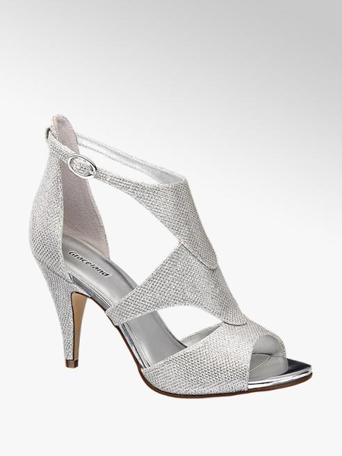 Graceland Ezüst színű alkalmi szandál