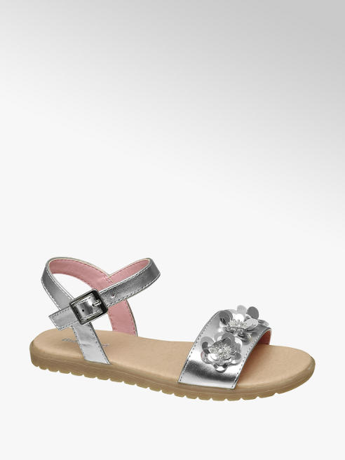 Graceland Ezüst színű lány szandál