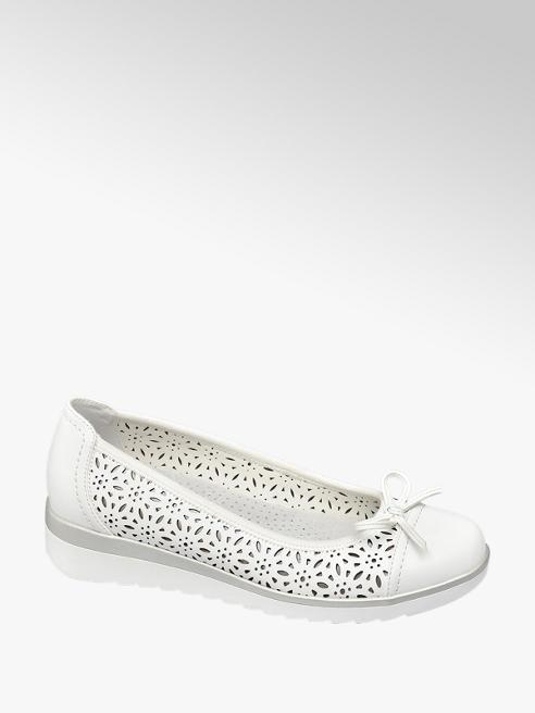 Easy Street Fehér kényelmi balerina cipő