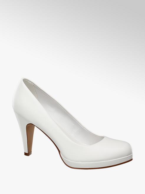 Graceland Fehér körömcipő