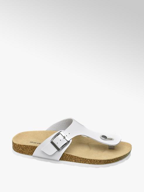 Graceland Fehér lábujjközi női papucs