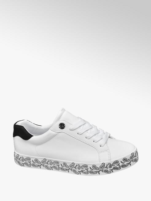Graceland Fehér sneaker virágos talppal
