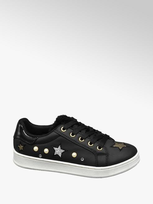 Graceland Fekete apllikált lány sneaker