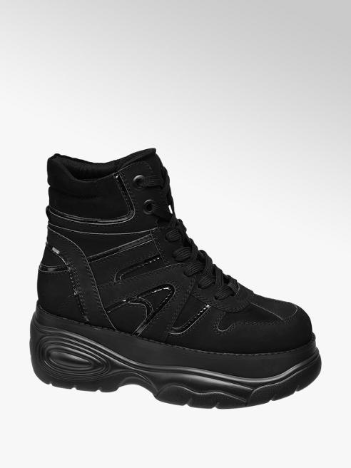 Catwalk Fekete chunky boot