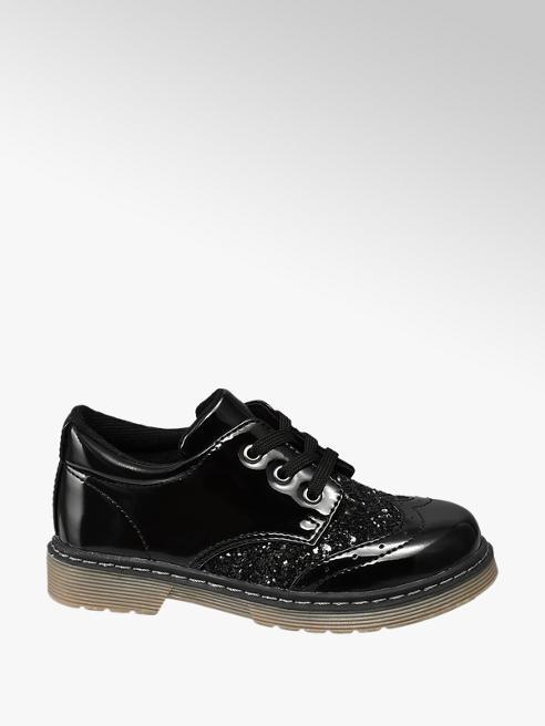 Cupcake Couture Fekete csillámos lány cipő
