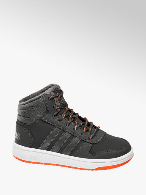 adidas Fekete fiú magasszárú cipő