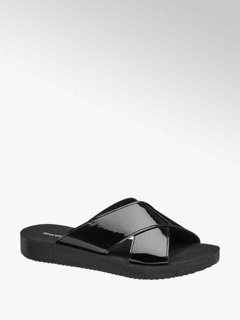 Graceland Fekete lakk papucs