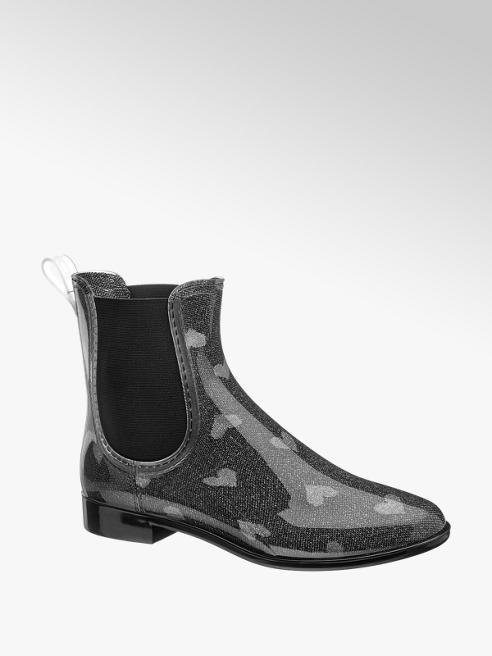 Graceland Fekete mintás gumcsizma