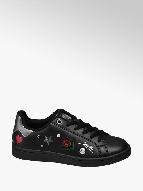 Graceland Fekete sneaker applikációkkal