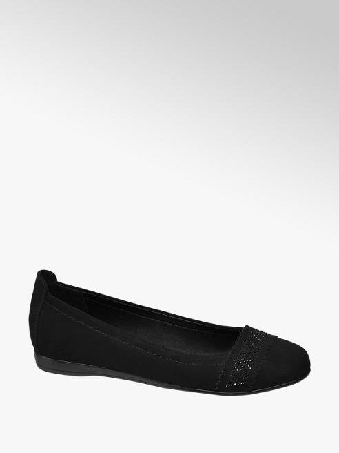 Graceland Fekete strasszos balerina