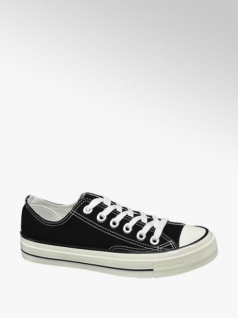 Vty Fekete vászon sneaker
