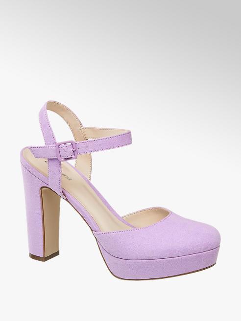 Graceland Fialové sandále na platforme Graceland