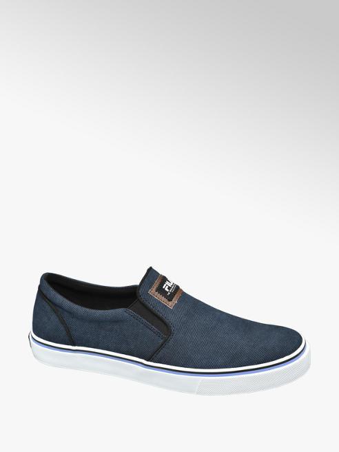Fila Blauwe waxed sneaker