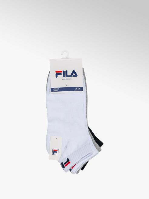 Fila Ladies Fila 3 Pack Quarter Sports Socks (39-42)