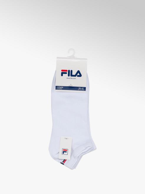 Fila Ladies Fila 3 Pack White Trainer Sports Socks (39-42)