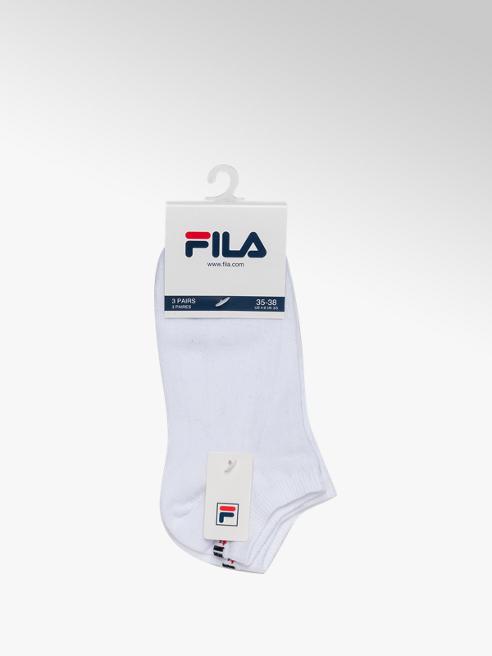 Fila Ladies Fila 3 Pack White Trainer Sports Socks (35-38)