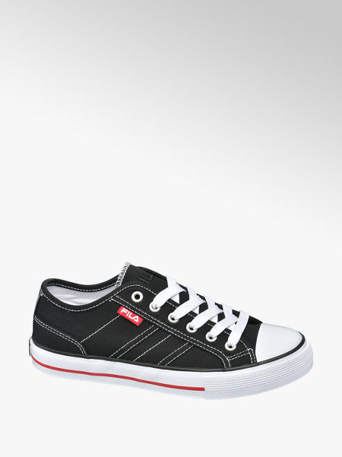 Fila Ladies Fila Black Canvas Lace-up Shoes