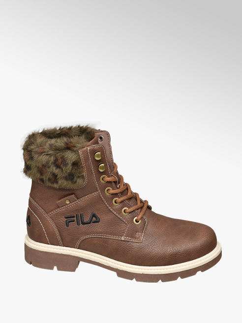Fila Ladies Fila Brown Lace-up Boots