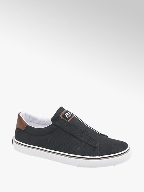 Fila Leinen Slip On Sneaker in Schwarz