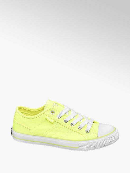 Fila Leinen Sneaker in Neon Gelb
