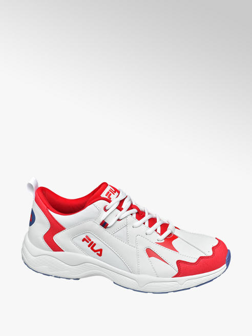 Fila Mens Fila White/ Red Lace-up Trainers