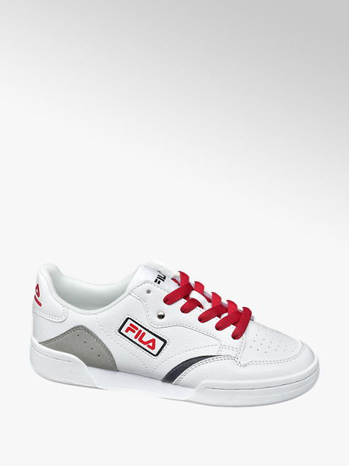 Fila Teen Fila Retro White/ Red Lace-up Trainers