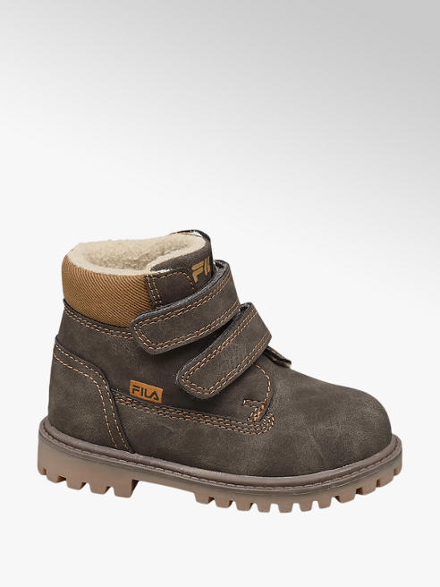 Fila Toddler Boy Dark Grey Fila Twin Strap Ankle Boots