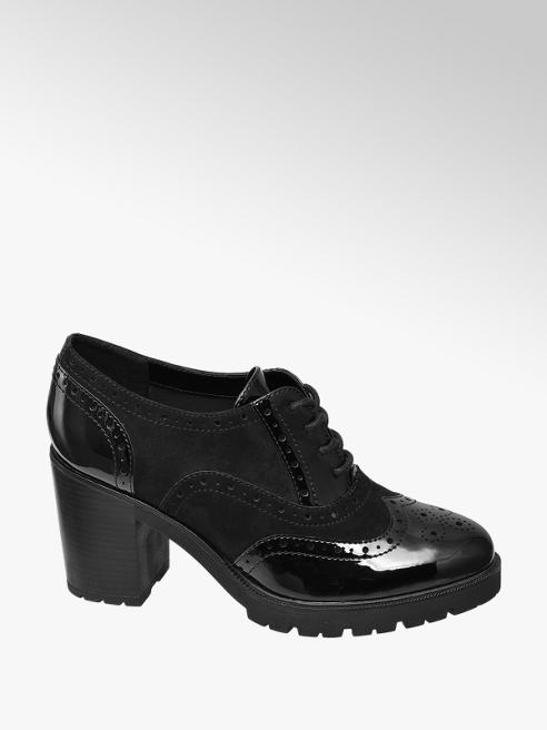 Graceland Francesina nera con tacco largo