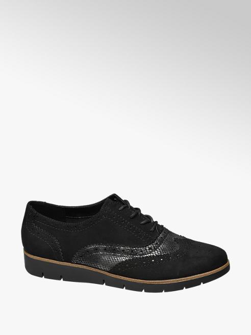 Graceland Francesina stringata nera bimateriale