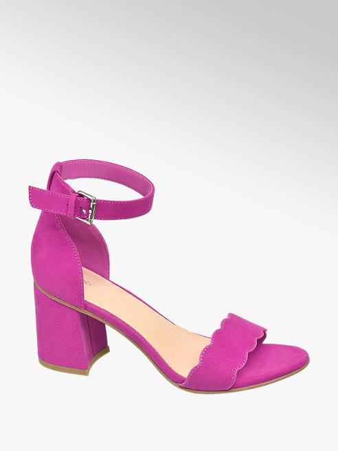 Graceland Fuksiové sandále na podpätku Graceland