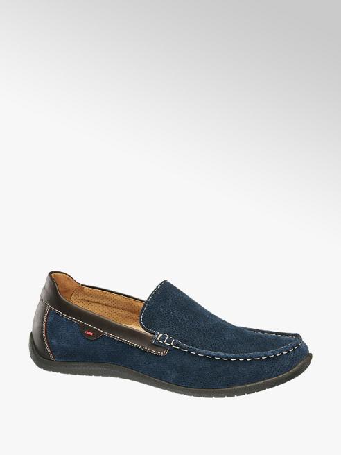 Gallus Blauwe suède loafer uitneembare voetbed