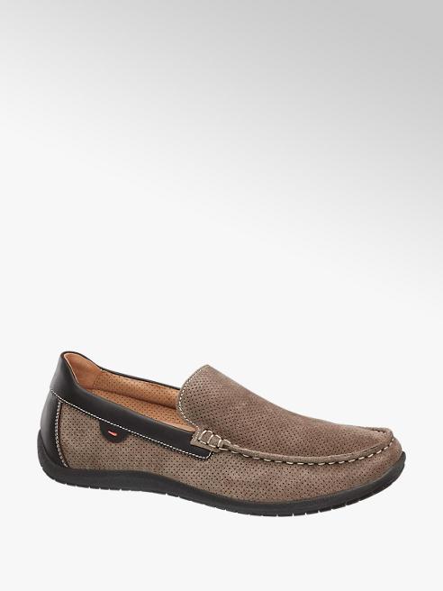 Gallus Bruine suède loafer uitneembaar voetbed