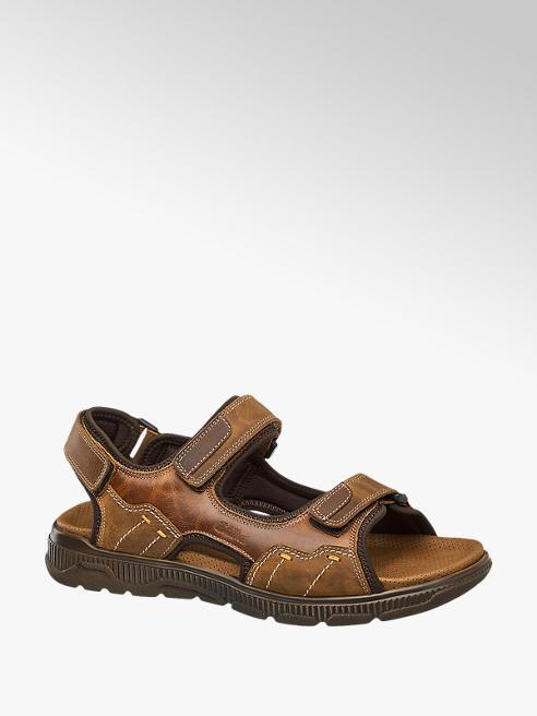 Gallus Leder Sandalen in Braun, Weite G