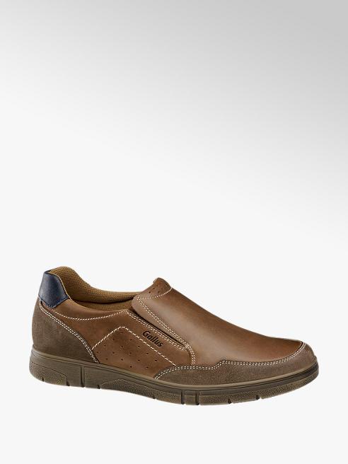 Gallus Leder Slipper in Braun, Weite G