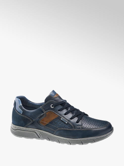 Gallus Leder Sneaker in Blau, Weite: G