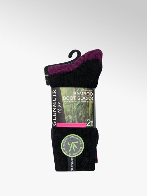 Glenmuir Ladies Glenmuir 2pk Boot Socks