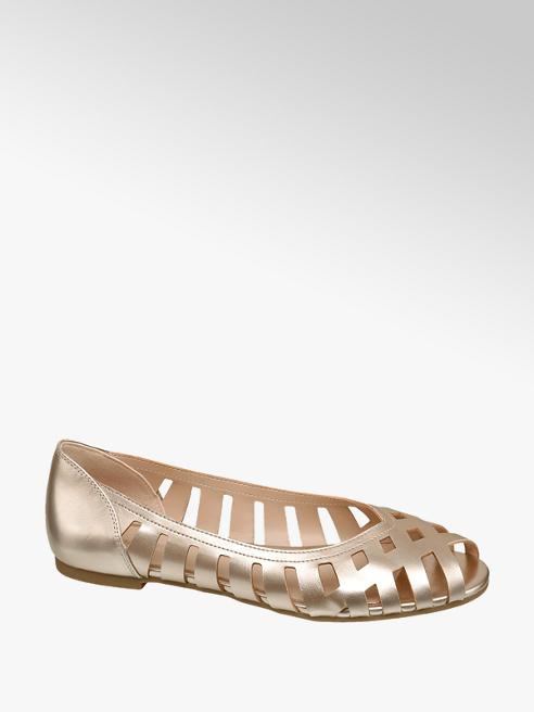 Graceland Ballerinas in Gold