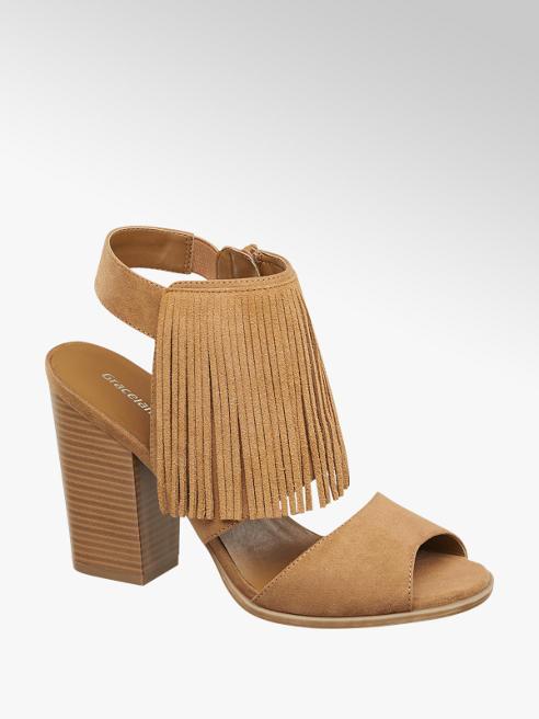 Graceland Püsküllü Topuklu Sandalet